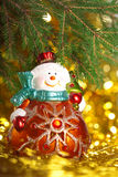 Christmas snowman Stock Images