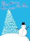 Christmas snowman. Stock Photo