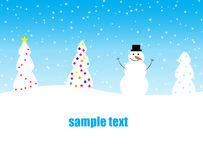 Christmas and snowman Royalty Free Stock Photography