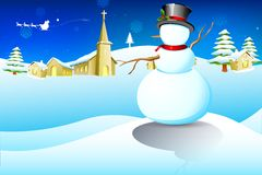 Christmas Snowman Royalty Free Stock Photography
