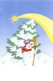 Christmas snowman royalty free stock photo