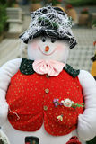 Christmas snowman. A christmas snowman in park Royalty Free Stock Image