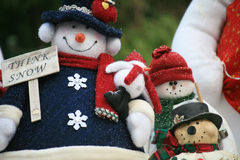 Christmas snowman Stock Photos