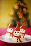 Christmas snowman appetizer Royalty Free Stock Photos