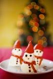 Christmas snowman appetizer royalty free stock photos