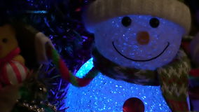 Christmas Snowman Background stock video
