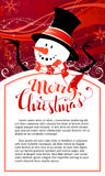 Christmas snowman background. vector illustration