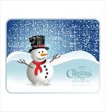 Christmas snowman. Background,  illustration Royalty Free Stock Image