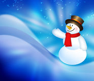 Christmas snowman background Royalty Free Stock Images