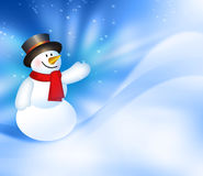 Christmas snowman background Royalty Free Stock Photos