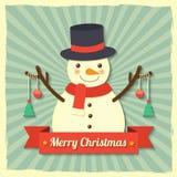 Christmas snowman background Stock Photo