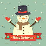 Christmas snowman background Royalty Free Stock Photography