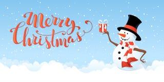 Christmas snowman banner. Stock Photography