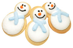 Christmas Snowman Biscuits Royalty Free Stock Photos