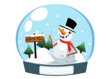 Christmas snowman in the box Stock Photography