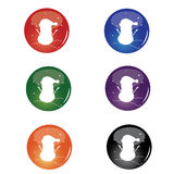 Christmas Snowman Button Royalty Free Stock Photos