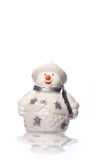 Christmas Snowman Candle Royalty Free Stock Image