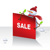 Christmas Snowman Card Royalty Free Stock Images