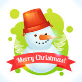 Christmas snowman card Stock Images