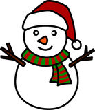 Christmas Snowman cartoon. Royalty Free Stock Image