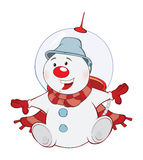 Christmas Snowman Cartoon Royalty Free Stock Photography