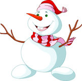 Christmas Snowman cartoon Stock Photo