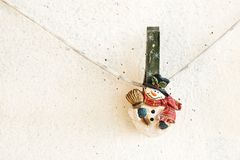 Christmas snowman clothespin Stock Images