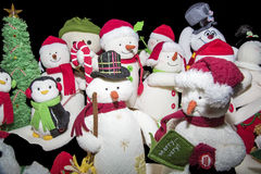 Christmas snowman collection isolated Royalty Free Stock Image