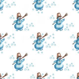 Christmas snowman colors Royalty Free Stock Photo