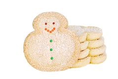 Christmas snowman cookies Royalty Free Stock Photo