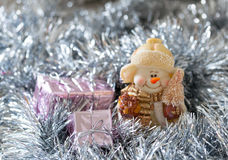 Christmas snowman decoration stock image