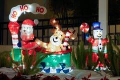 Christmas snowman decoration Stock Images