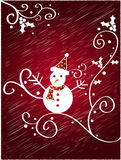 Christmas snowman design Stock Photography
