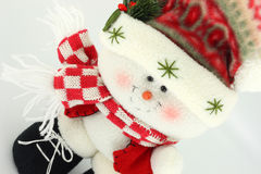 Christmas Snowman Doll Royalty Free Stock Photography
