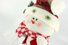 Christmas Snowman Doll Stock Photo