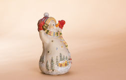Christmas snowman doll Royalty Free Stock Photo