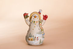 Christmas snowman doll Stock Images