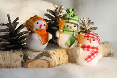 Christmas Snowman Family - Stock Photo Stock Photo