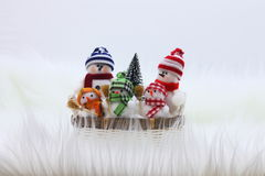 Christmas Snowman Family - Stock Photo Stock Photography