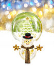 Christmas and snowman Royalty Free Stock Images