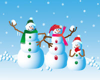 Christmas Snowman Fun Royalty Free Stock Images