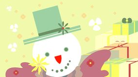 Christmas snowman with gifts Royalty Free Stock Photo