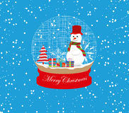 christmas snowman globe Stock Images