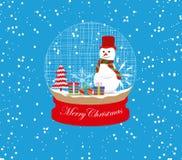 christmas snowman globe Stock Images