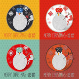 Christmas snowman greeting card Stock Photo