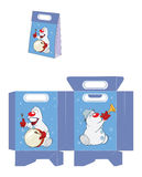 Christmas Snowman. Handbags Packages Pattern Royalty Free Stock Image