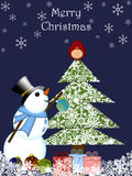 Christmas Snowman Hanging Ornament Stock Photos