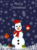 Christmas Snowman Hanging Ornament Royalty Free Stock Photography