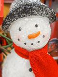 Christmas snowman in a hat and  scarf Stock Images