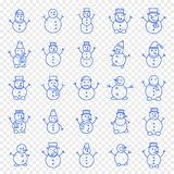 Christmas Snowman Icon set royalty free illustration